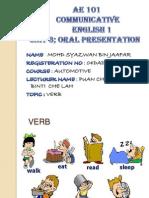 Verb Presentation