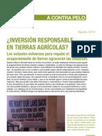 INVERSIÓN RESPONSABLE EN TIERRAS AGRICOLAS - Los actuales esfuerzos para regular el acaparamiento de tierras agravarán las situación