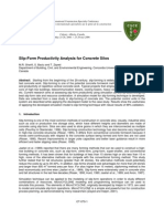 Slip-Form Productivity Analysis for Concrete Silos