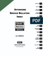 GMC MOTORHOME SERVICE BULLETINS
