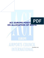 ACI EUROPE Position on the Allocation of Airport Slots - December 2011[1]