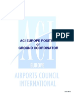 ACI EUROPE Position on Ground Coordinator Concept