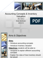 Accounting Concepts and Inventory Valuation