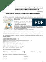 Exercicios Complementares de Matematica Conjuntos Numericos Professora Lucimara