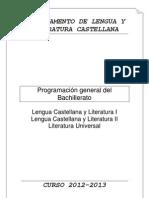 Bachillerato-Programación lengua 12-13
