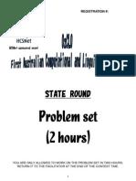 2008 First Round Problems