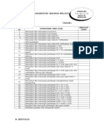 Borang Analisis Ujian Diagnostik
