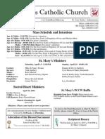 Bulletin for April 7, 2013