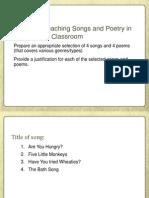 LGA 3102 Teaching Songs and Poetry in Primary