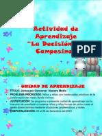 III Actividad de Aprendizaje El Campesino 2013