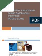 Brand Portfolio of Peter England