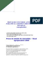 PROVAS  DE   FISCAL   AGROPECUÁRIO  COM GABARITOS