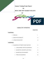 Godrej Consumer Products Project Report