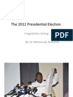 2012 Elections Irregularities Arising