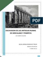 Excavasion de Las Antiguas Ruinas de Herculano y Pompeya - Nilda Rodriguez trejos