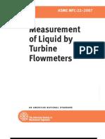 Measurement of Liquid by Turbine Flowmeters
