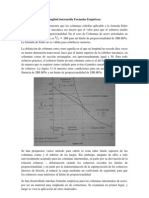 Columnas de longitud intermedia Formulas Empíricas