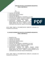 EL HOGAR DE BIENESTAR SOLICITA LOS SIGUIENTES REQUISITOS PARA LA MATRICULA.docx