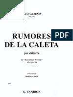 Isaac Albeniz - Rumores de La Caleta (Arr. Mario Gangi)