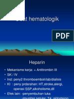 Obat-obat Hematologik