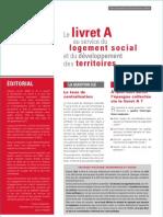 Lettre Information USH LivretA 23-12-2010