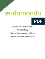 Endomondo User Guide for Blackberry