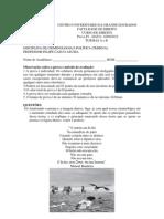 Gabarito P1 - MATUTINO