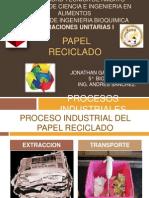 Operacion Unitarias i - Papel Reciclado