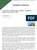 Architettura Contemporanea Brasile
