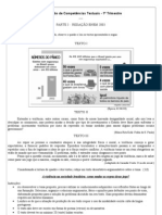Prova de Competencias Textuais 1. Tri- Scribd