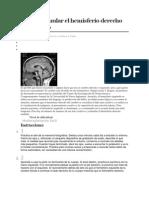 Cómo estimular el hemisferio derecho del cerebro
