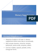 Lecture Slides Week1!1!10 DietarySupplements