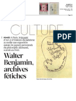 Walter Benjamin, archives fétiches