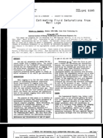 A Method for Estimating Fluid Saturations From Well Logs