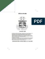 GTA 41-01-005 Religious Factors Analysis - US Army