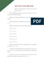 Ecuaciones de La Recta