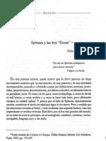 Gilles Deleuze - Spinoza y las tres Éticas