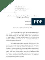 Factores de influencia en la desigualdad social del Chile actual y Latinoamérica