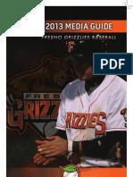 2013 Fresno Grizzlies Media Guide