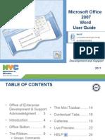 Microsoft Word 2007 Users Manual