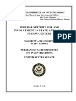 FEDERAL SUPPORT FOR AND INVOLVEMENT IN STATE AND LOCAL FUSION CENTERS