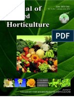 Journal of Applied Horticulture 14(1) Indexing