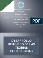 Desarrollo Historico de Las Teorias Sociologicas