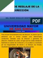 Tema 2 COTAS DE REGLAJE DE LA DIRECCIÓN