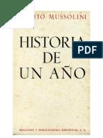 Historia de un año - Benito Mussolini