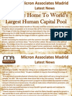 Micron Associates Madrid Latest News India the home to world's largest human capital pool