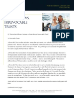 Revocable vs Irrevocable Trusts