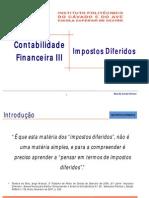 Impostos Diferidos Contabilidade Financeira III C ( L )