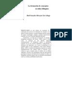 La formación de conceptos en niños bilingues - Raúl Gonzales Moreyra