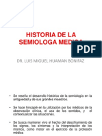 Historia de La Semiologa Medica